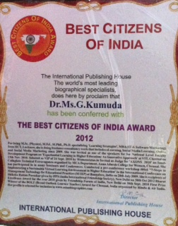 Best Citizens of India Award